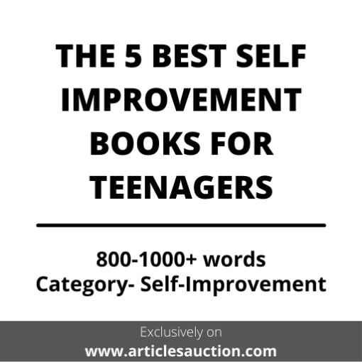 THE 5 BEST SELF IMPROVEMENT BOOKS FOR TEENAGERS - Articles Auction