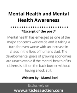 Mental Health and Mental Health Awareness - Articles Auction