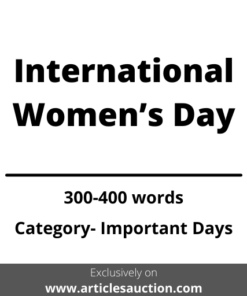 International Women's Day - Articles Auction