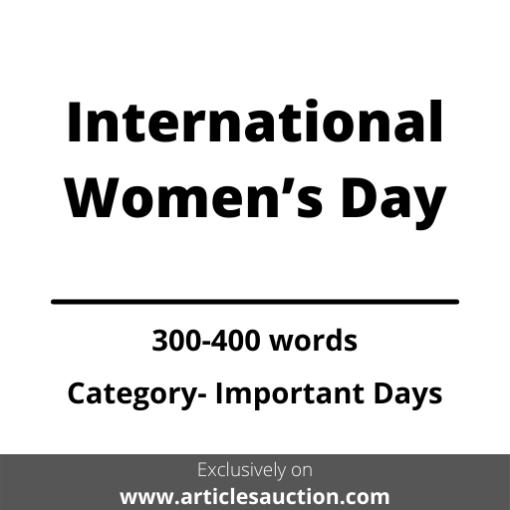 International Women's Day - Articles Auction