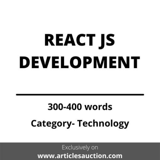 REACT JS DEVELOPMENT - Articles Auction